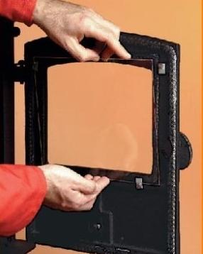 Kamino kandalló ajtó üveg