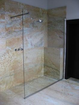 Zuhanyfal készítés